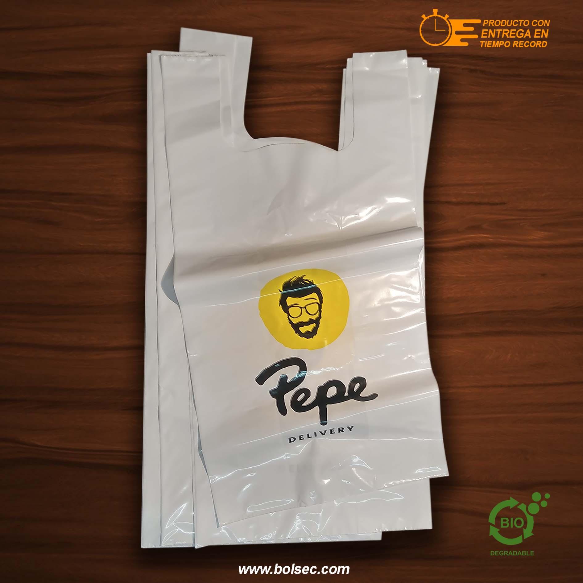 5e7b0185c Bolsas Tipo Camiseta Impresas con Tu Logo, Envío a Todo México ...